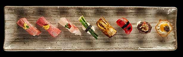 Creaciones culinarias del chef del Kabuki