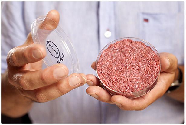 La hamburguesa probeta que hoy ha sido consumida por primera vez | Imagen: culturedbeef.net