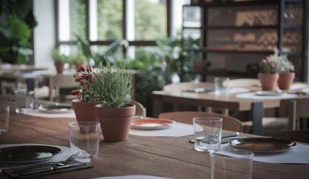 Imagen: Interior del restaurante Ana la Santa