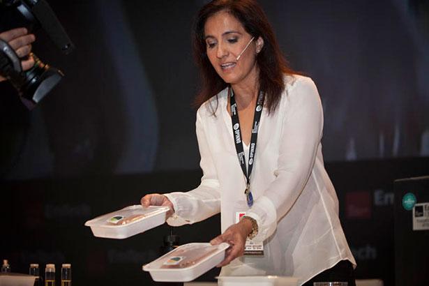 Mercedes Hortal en su presentación durante el congreso EmTech 2013 en Valencia | Opinno