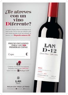 Cartel de la iniciativa para incentivar el consumo del vino LAND-12