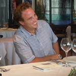 David Adrián, durante la presentación de la nueva carta del restaurante | Foto: J.L.C.