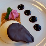 Bavaroisse de chocolate blanco, un postre elaborado por los alumnos   Foto: Marita Villalba