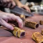 Preparación del crocante de atún rojo