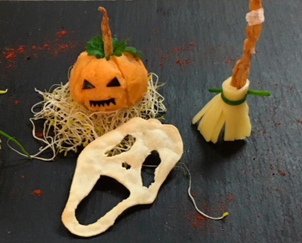 Escobas de bruja, calabazas de almogrote y pan terrorífico...en Gastroescuela