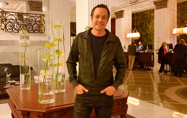 Javier Torres, en el hotel Mencey de Santa Cruz de Tenerife | Foto: J.L.C: