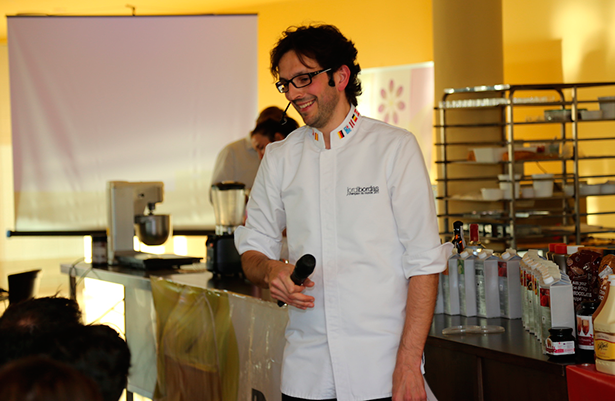 Jordi Bordas, durante la clase magistral que impartió en Adeje