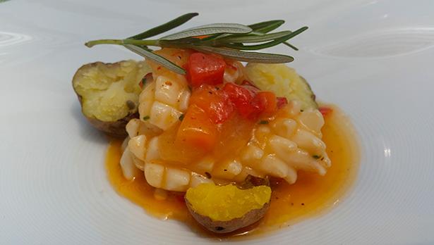 Calamar, un plato del chef Germán Blanco | Foto: J.L.C.