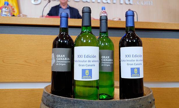 Varios de los vinos presentados en Gran Canaria
