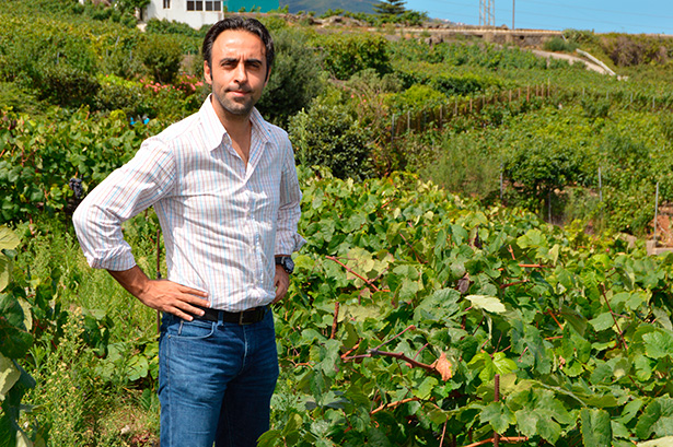Jonatan García, entre sus viñedos | Foto: J.L.C.