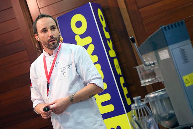 Fran Segura, durante su intervención en Culinaria Tenerife | Foto: Acfipress