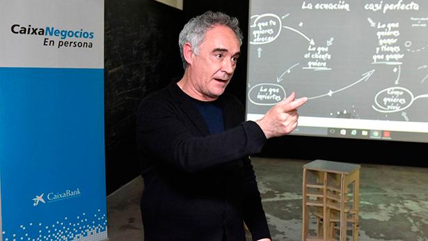Ferrán Adriá, en la presentación | Foto: Caixabank