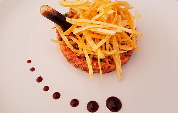 Steak tartar de cochino negro, en el restaurante Haydeé | Foto: J.L.C.