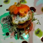 Calabaza baby rellena de pato Pekin y foie-gras, y huevo de codorniz, con un toque cantonés | Foto: J.L.C.