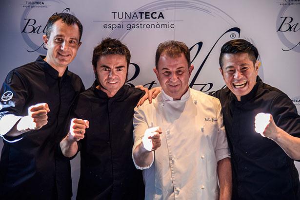 Pere Lladó, Marc Miró, Martín Berasategui y Hideki Matsuhisa