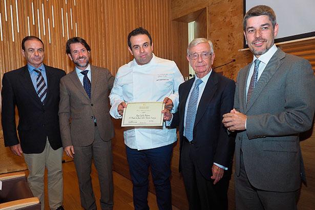 Juan Carlos Padrón (c), acompañado de José Luiz Zubieta, Carlos Alonso, Rafael Ansón y Albeto Bernabé | Foto: Sergio Méndez