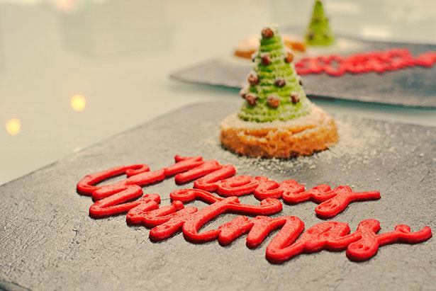 Un árbol de navidad con su felicitación, ambos comestibles, impresos por 'Foodini' | Foto: Natural Machines
