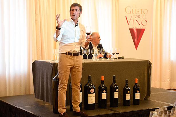 Javier Moro, durante la presentación de los vinos