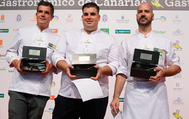 José Luis Espino Santana (c) junto a Juan Manuel Bertolín Fuertes y Joao Henrique Faraco