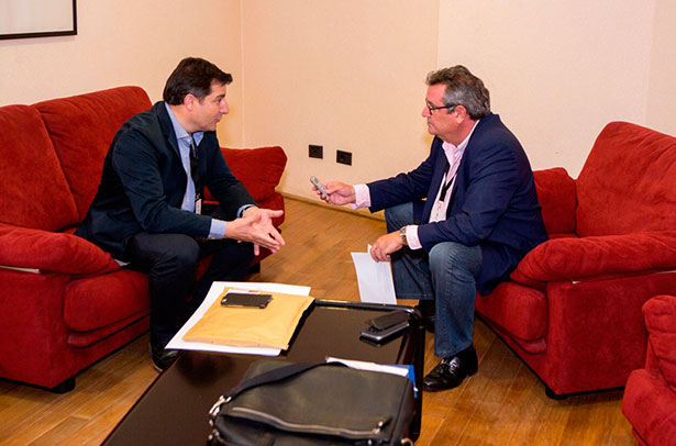 Josep Roca, durante la entrevista | Foto: Rayco Cardona