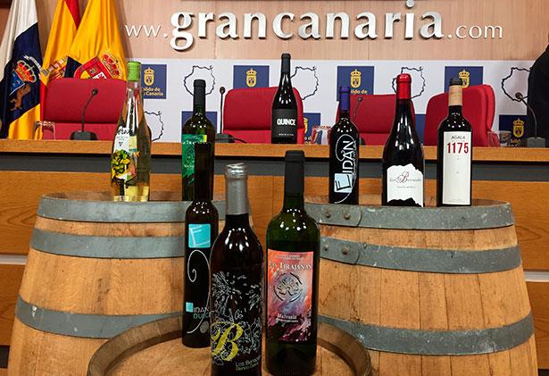 Algunos de los vinos premiados