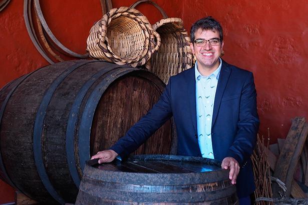 Ferran Centelles, en la Casa del Vino   Foto: Sergio Méndez