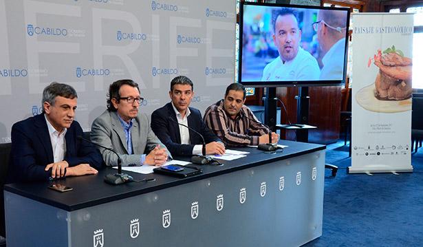 Imagen de la presentación del evento culinario en el Cabildo de Tenerife
