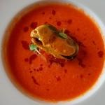 Gazpacho de sandía con mejillón en escabeche | Foto: J.L.C.