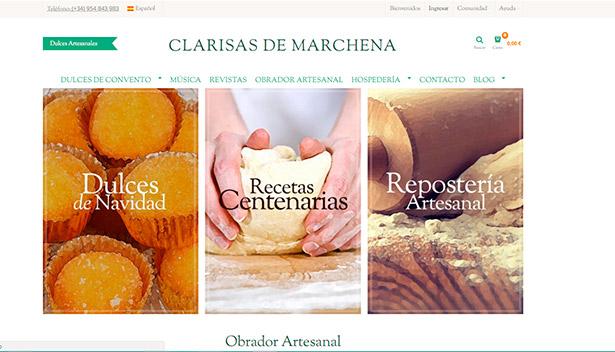 Portal web de las Clarisas