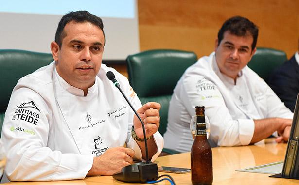 Los hermanos Padrón, durante la presentación del proyecto de su nuevo restaurante | Foto: Sergio Méndez