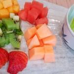 Sashimi de fruta con helado de manzana verde | Foto: J.L.C.