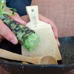 Wasabi, rallado y servido al momento | Foto: J.L.C.