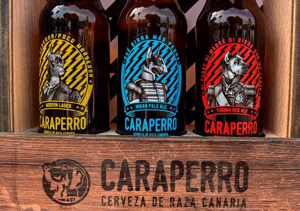 La nueva cerveza Caraperro, con sus tres variedades