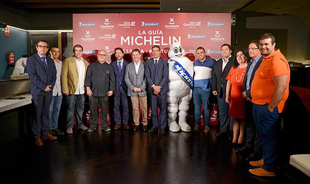 Imagen del acto en que se dio a conocer que Tenerife sería la sede de la Gala Michelin