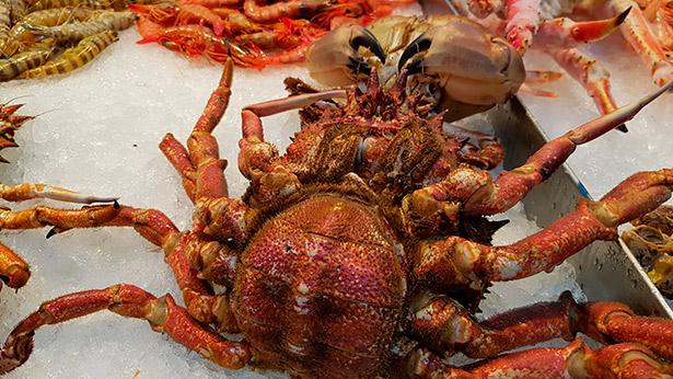 Centolla, en el mercado Nuestra Señora de África | Foto: J.L.C.