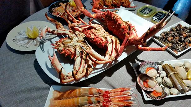 Mariscos en el restaurante La Sartén de A Coruña | Foto: J.L.C.