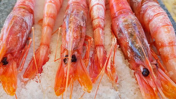 Gambas frescas a la sal | Foto: J.L.C.