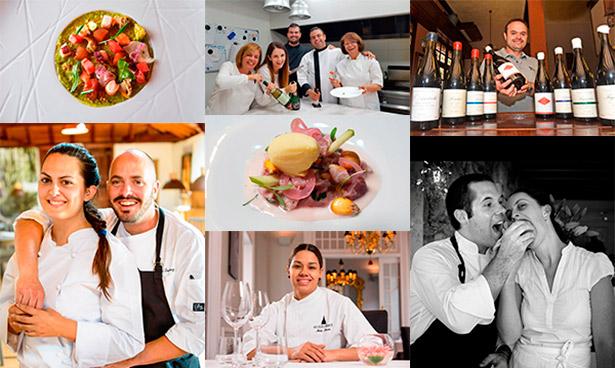 Algunos de los premiados y platos elaborados por los ganadores
