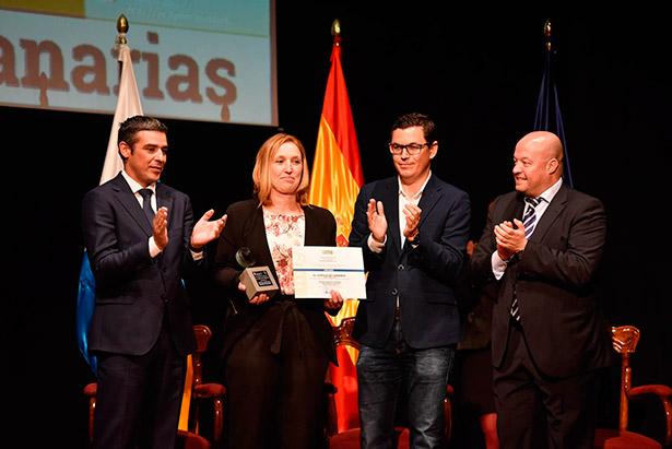 Beni Ojeda recoge el premio al Mejor Queso de Canarias