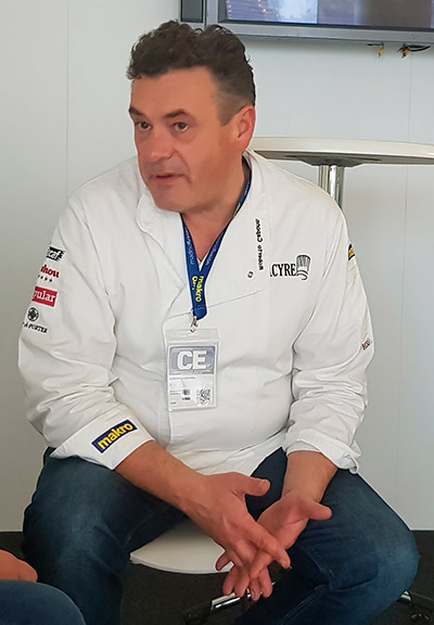 El chef, durante la entrevista | Foto: J.L.C.