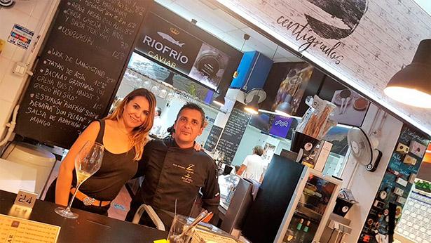 Pilar Báez y Alexis Bencomo