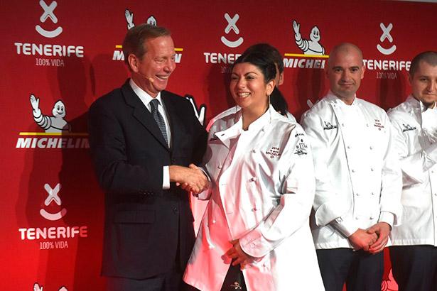 Fer Fernández, en la Gala Michelin, tras recibir su primera estrella
