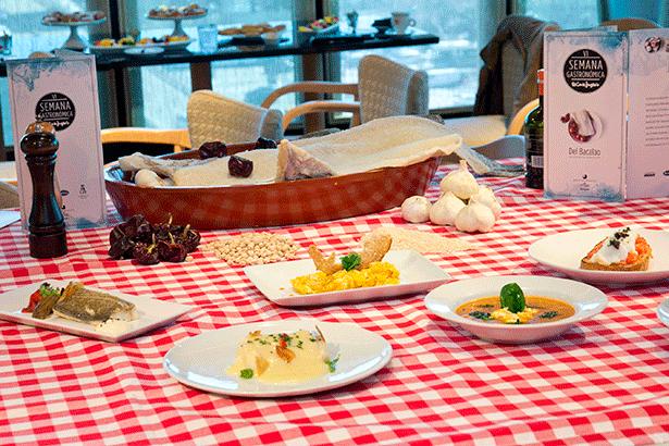 Algunos de los platos que podrán ser degustados en la semana del bacalao