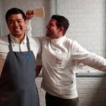 Tadashi Tagami y Carlos Villar escenifican su duelo culinario en los fogones | Foto: J.L.C.