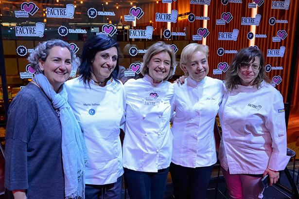 """Isabel García Tejerina, junto a otras chefs, durante el foro """"Gastronomía es femenino"""""""