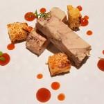 Terrina de foie con pan de pasas y mermelada de boniato | Foto: J.L.C.