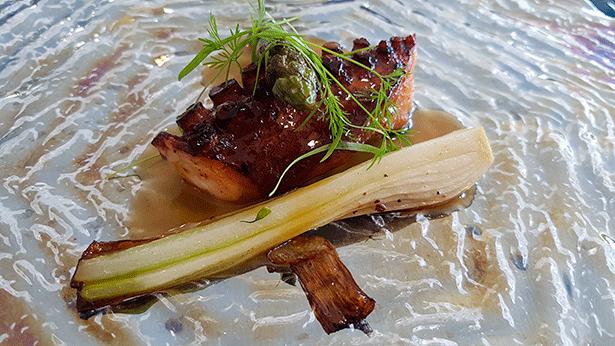 Pulpo con salsa americana y teriyaki | Foto: J.L.C.