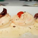 Langostinos a la fonduta di parmiggiano | Foto: J.L.C.