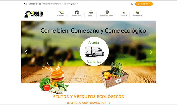 Imagen de la web de la tienda electrónica 'Cómete el Norte'