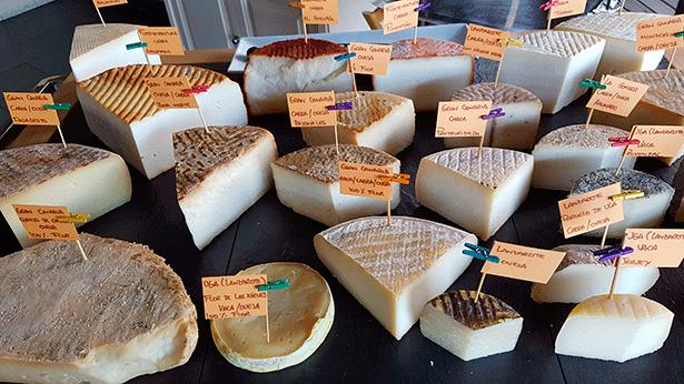 Carro de quesos del chef Braulio Simancas | Foto: J.L.C.